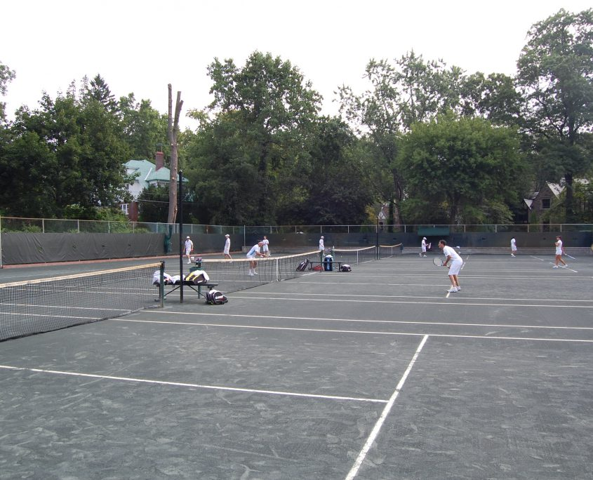 8 tennis courts